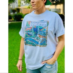 Vtg 90s Endangered Species in California Shirt